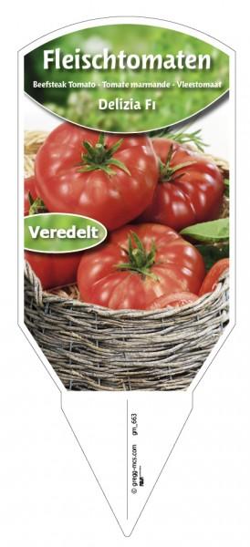 Tomaten, Fleisch Delizia F1 veredelt