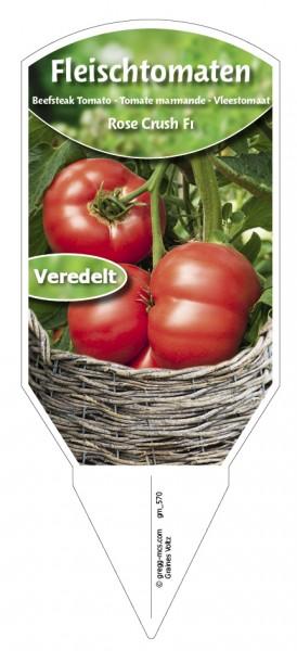 Tomaten, Fleisch Rose Crush F1 veredelt
