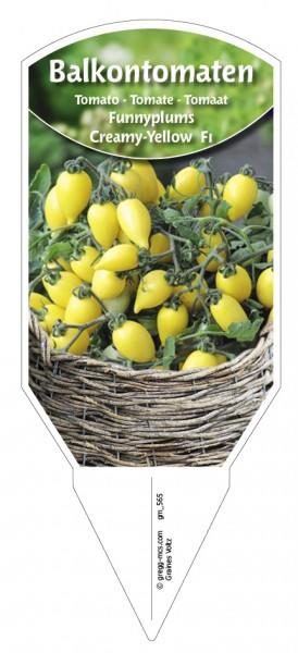 Tomaten, BalkonFunnyplums® Creamy-Yellow F1