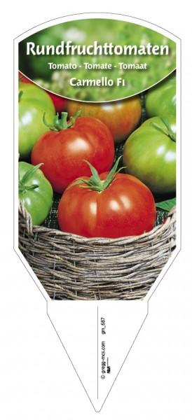 Tomaten, Rundfrucht- Carmello F1