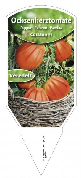 Tomaten, Ochsenherz- Corazon F1 veredelt