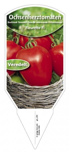 Tomaten, Ochsenherz- 'Fleurette F1' veredelt