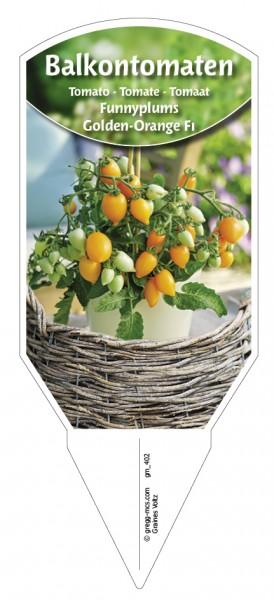 Tomaten, Balkon 'Funnyplums® Golden-Orange F1'
