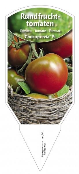 Tomaten, Rundfrucht- 'Chocoprevia' F1