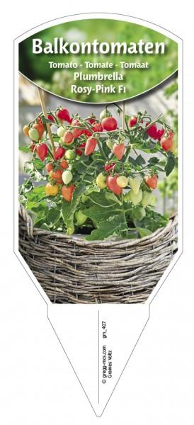 Tomaten, Balkon 'Plumbrella® Rosy-Pink F1'