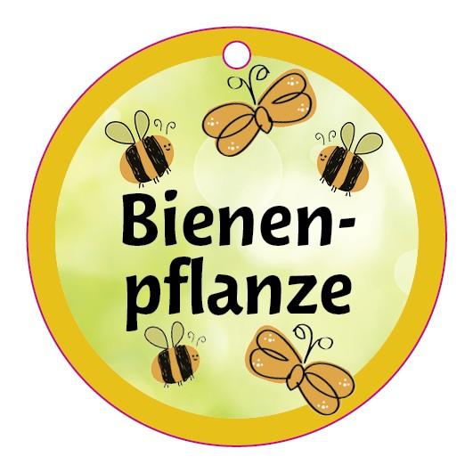 Bienen-Etikett rund