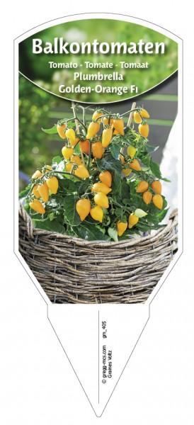 Tomaten, Balkon 'Plumbrella® Golden-Orange F1'