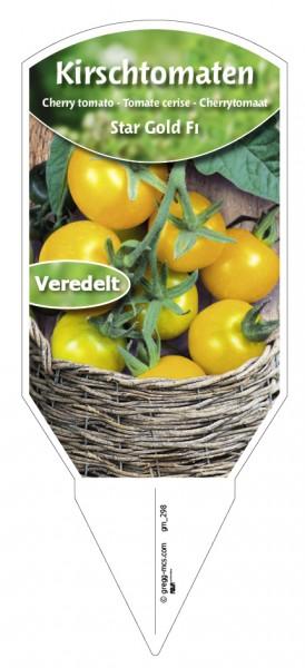Tomaten, Kirsch- 'Star Gold F1' veredelt