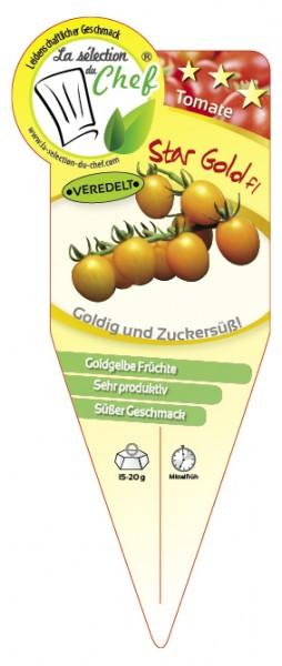 Tomate 'Star Gold F1' veredelt