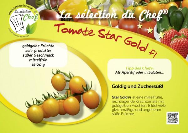 Mini-Poster 'Star Gold F1'